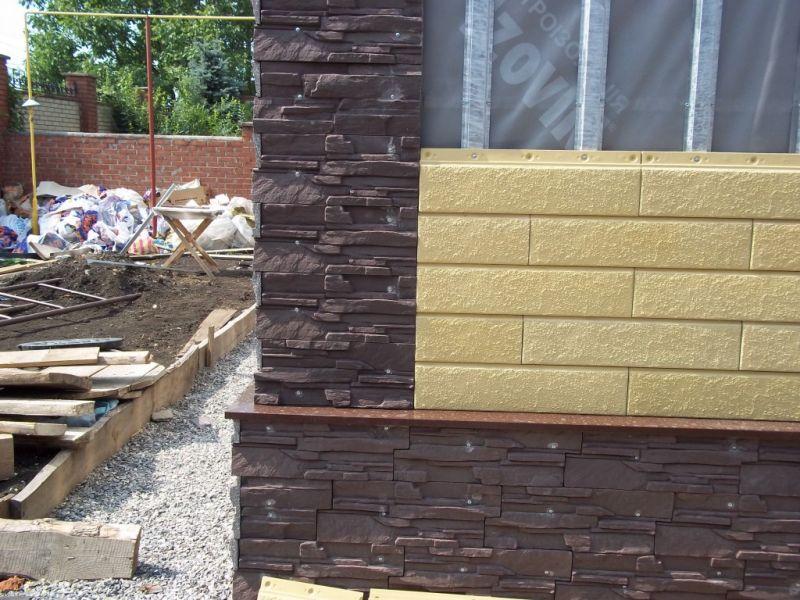 Фасадные материалы Донрок из искусственного камня для облицовки