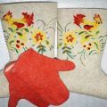 Сделано с любовью - белорусские валенки, силиконовые галоши. Валенки с ручной вышивкой, росписью