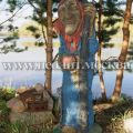 Садовая фигура Баба-яга с клюкой
