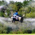Внесение на кукурузу инсектицида Кораген вертолетом